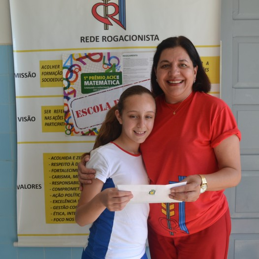 Aluna do 5º Ano na 2 fase do 1º Prêmio ACIC de Matemática